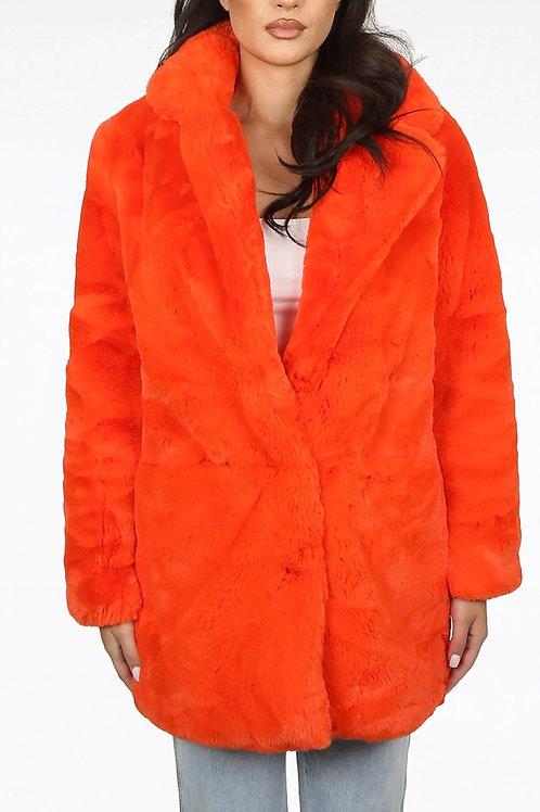 Vena Soft Faux Fur Overcoat