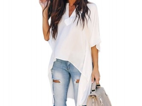 Deliyah White High Low Top