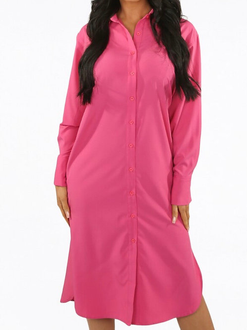 Davina Side Slit Shirt Dress