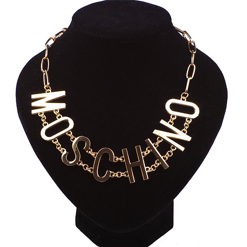 Moschino Gold Necklace