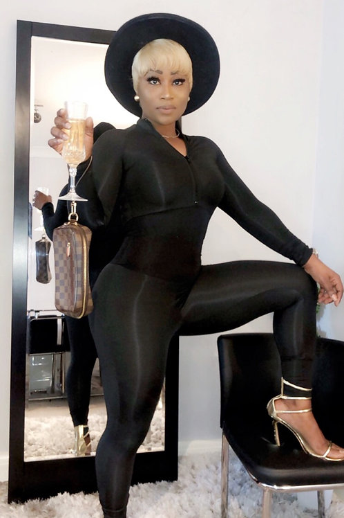 Jersey Corset Fitted Jumpsuit