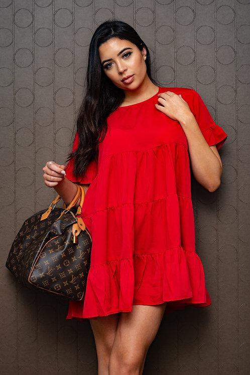 Ro-sheen Rose Flare Dress