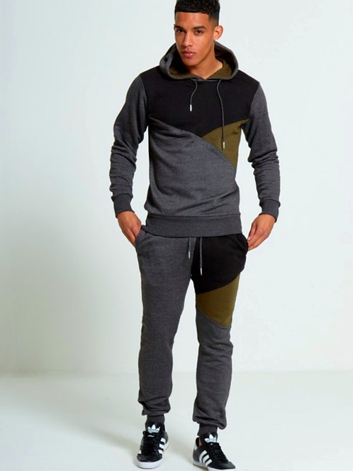 Charlie Charcoal Three Panel Pullover Tracksuit