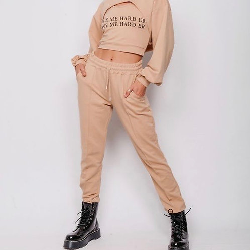 Doney Crop Top 3 Piece Tracksuit