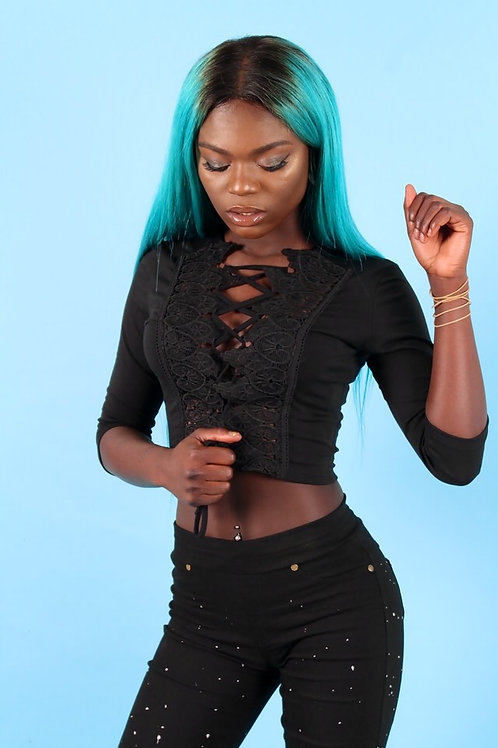 Lucie Lace Up Crop Top
