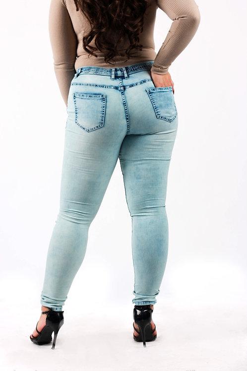 Thelna Light Blue Wash Jogger Pants