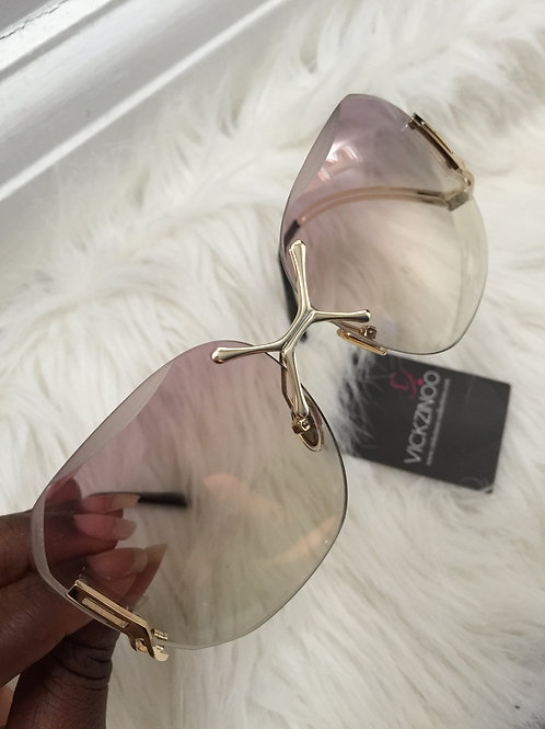Sandy reversed curve purple glasses