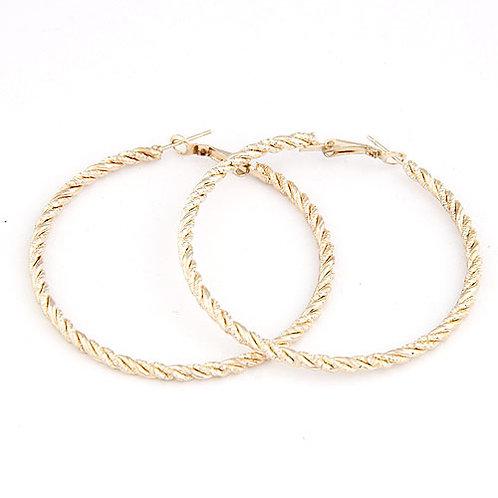 Mimi Gold Twist Hoop Earring