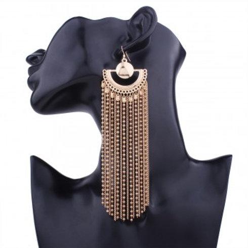 Vena Chain Drop Earrings