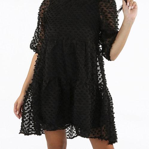 Suella Chiffon Textured Mini Dress
