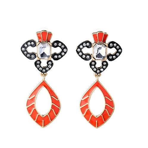 Nora Alloy Drill Set Earrings