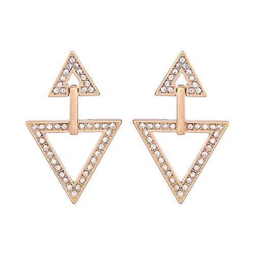 Kogi Diamanté Double Triangle Drop Earring