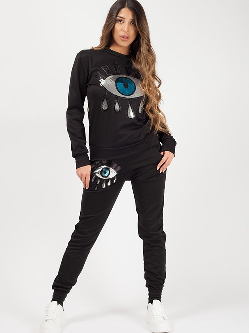 Remo Black Sequin Eye Co-ord
