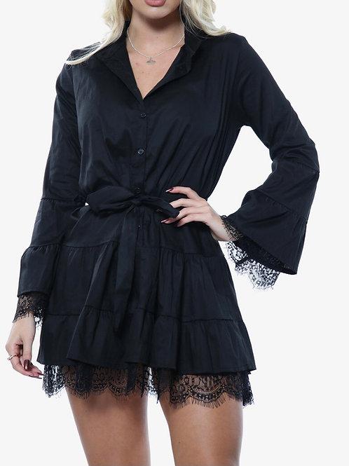 Denola Lace Shirt Dress