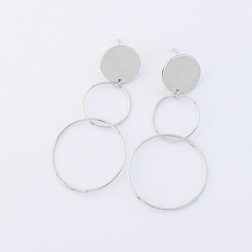 Lee Hoop Drop Earrings