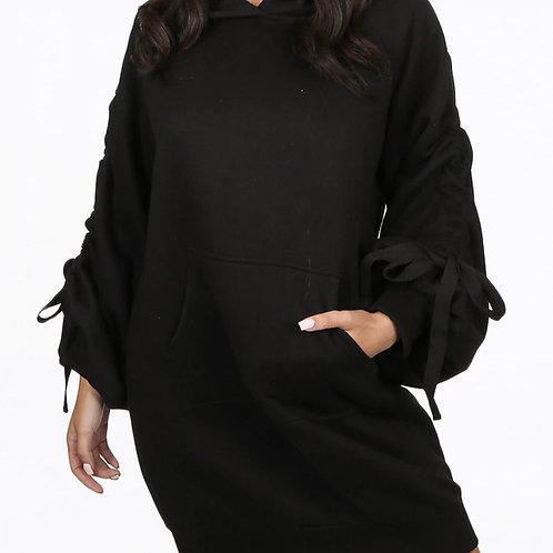 Gabby Ruched Sleeve Jumper Dress