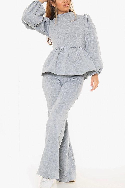 Lola Peplum Loungewear Set