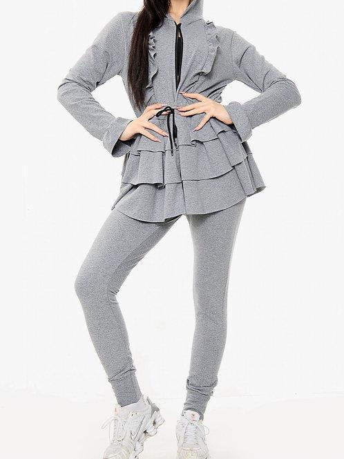Toni Grey Layered Loungewear Set