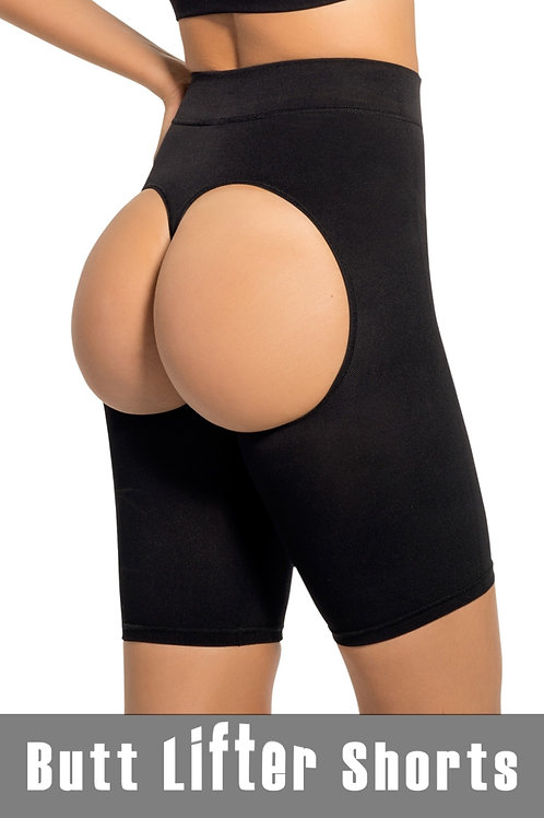Stormy Black Shaper Short with Butt Lifter