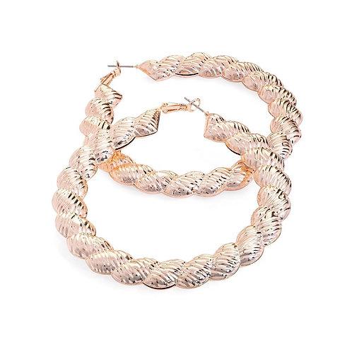 Hula Rose Gold Hoop Earring