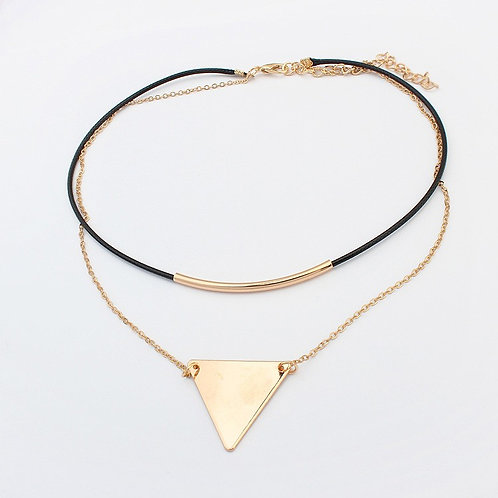 Brownie Simple Triangle Necklace