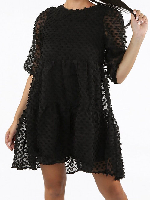 Zula Textured Mesh Dress
