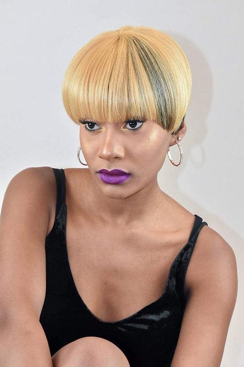 Fierce Boyfriend Cut Blonde And Black Wig