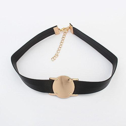 Tina Retro Circle Necklace