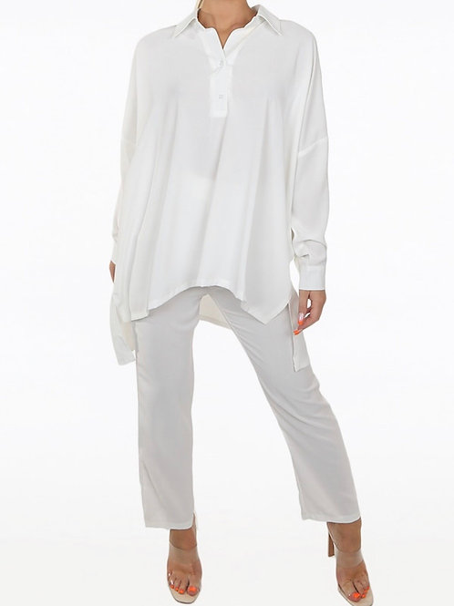 Falo Oversized Shirt And Trousers Coord