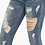 Thumbnail: Carni Washed Denim Ripped Jeans