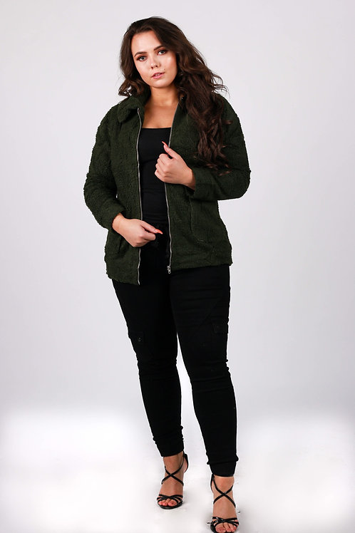 Boia Fluffy Zip Up Jacket