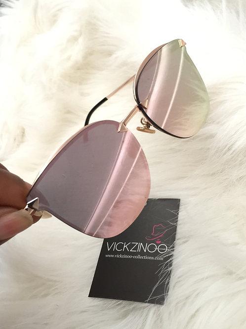 Tyla Pink Mirror Reflect Glasses