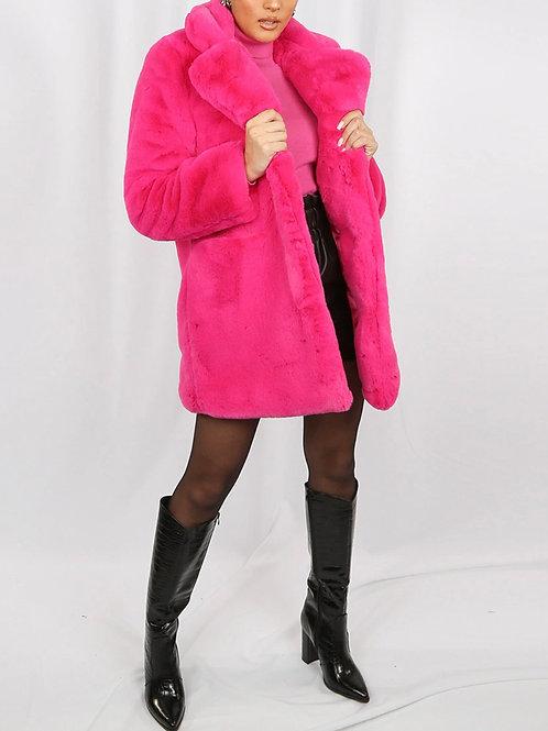 Dana Soft Faux Fur Overcoat