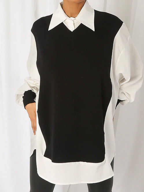 Moray Contrast Knitted Jumper