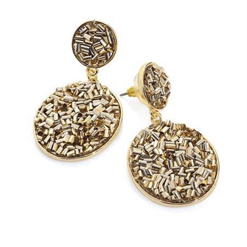 Donna Gold Oval Drop Earring