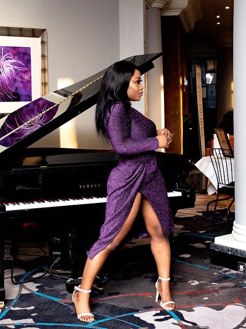 Lady Boss Purple Dress