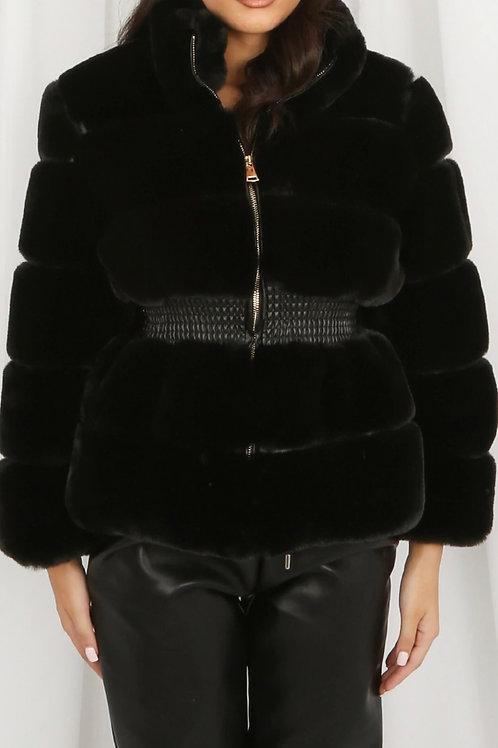 Munroe Layered Shaggy Faux Fur Jacket