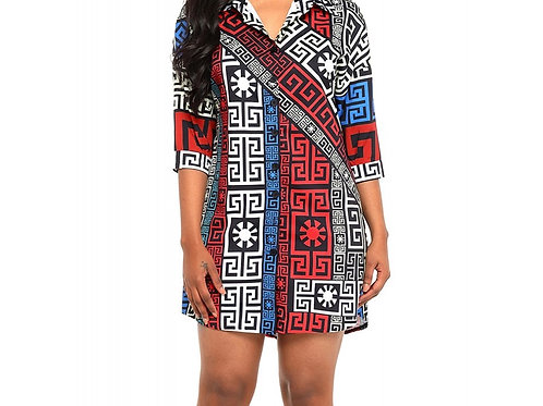 Savannah Multicolor Printed Shirt Dress