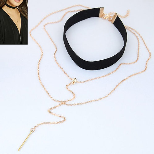Lesley Alloy Rope Necklace