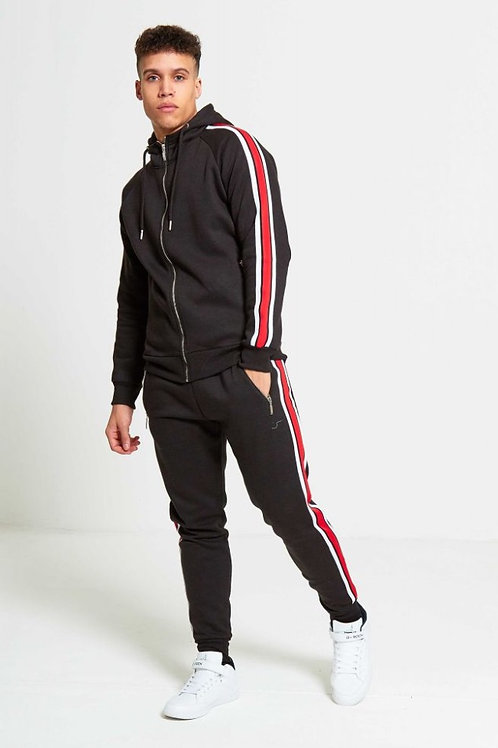 Nelson Zip Through Stiped Tracksuit