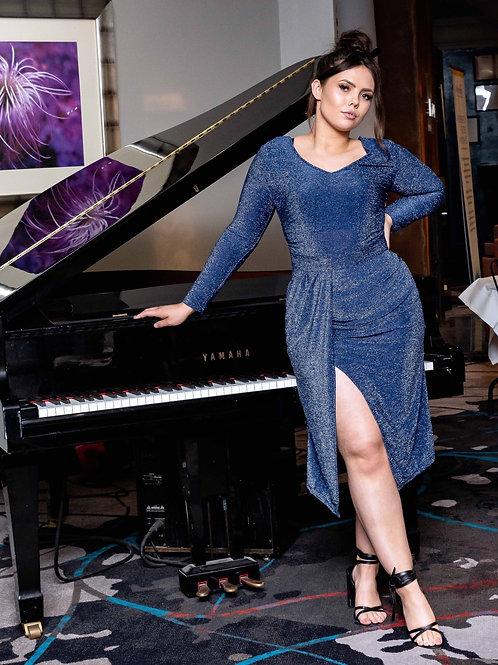 Lady Boss Blue Dress