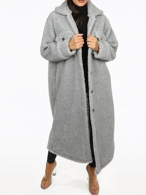 Teno Soft Teddy Faux Fur Longline Coat