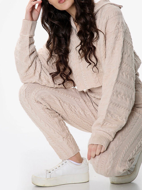 Sarvve Thick Cable Knitted Coord Set