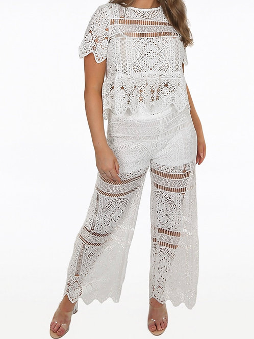 Torri Embroidery Lace Coord Set