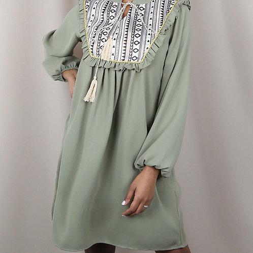 Mulli Embroidered Dress