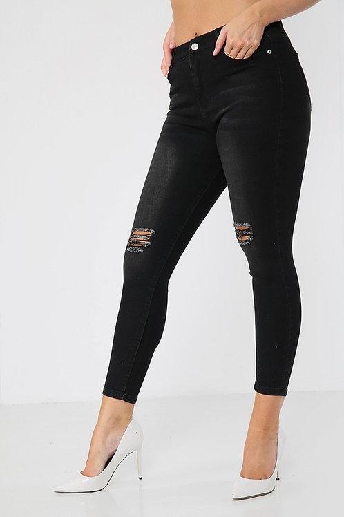 Velon Knee Ripped Skinny Jeans