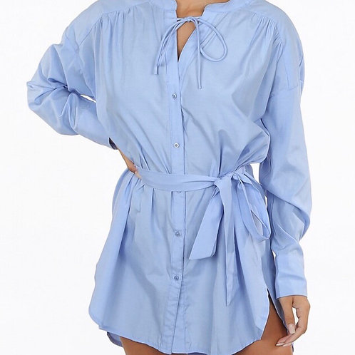 Novita Tie Up Shirt Dress