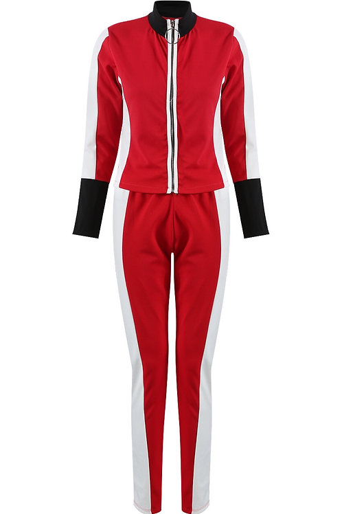 Nikky Stripes Zipper & Trouser Lounge Wear