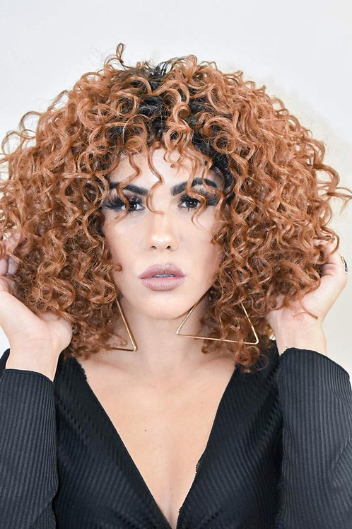 Brown Afro Curly Synthetic Wig