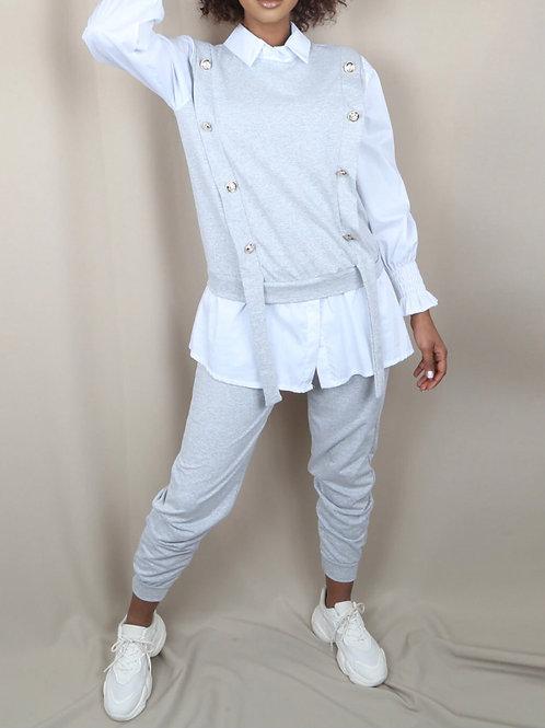 Tonio Gold Button Details Loungewear Set
